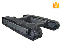 Under 12 ton rubber track undercarriage for tracked machine