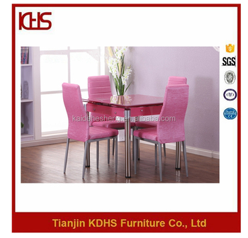 China Manufacturers Wholesale Tempered Glass Dining Table