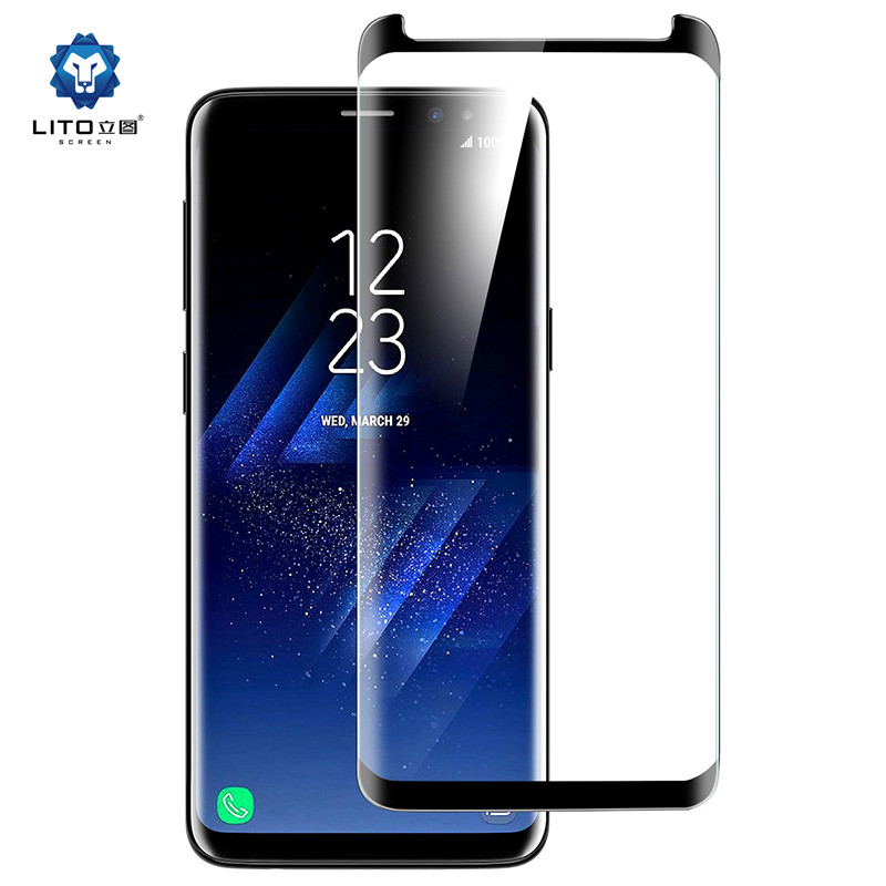 LITO 2018 3D Curved 9H hardness for samsung s9 tempered glass screen protector