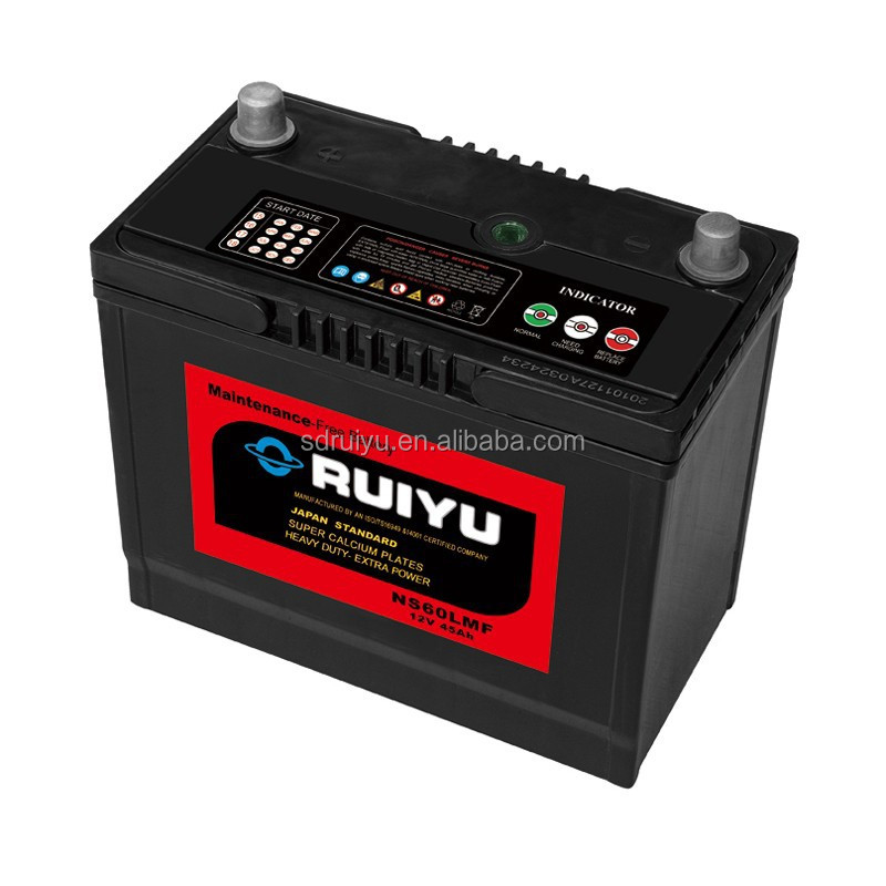 12v45AH sealed maintenance free automotive battery