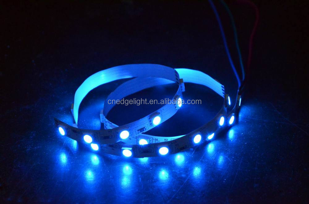 Edgelight led smd5050 pcb board 8mm , 5050 flexible waterproof IP20/65 rgb led strip 24v , CE/ROHS/UL listed LED strip