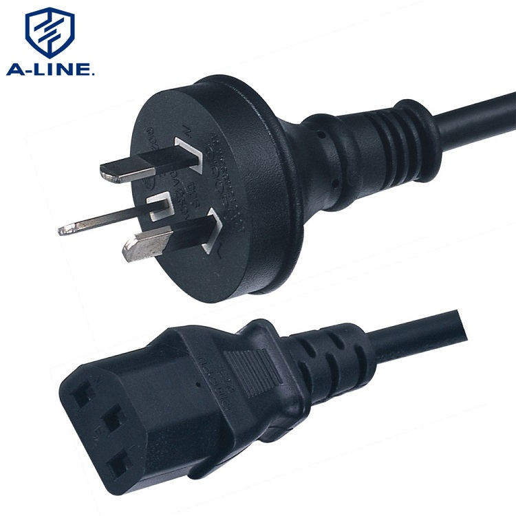 Australian Power Cord 3 pins Plug and IEC C13 Connector