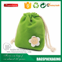 fresh green floret gift pouch velvet/velvet drawstring bag wholesale