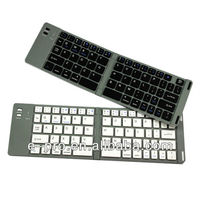 For Ipad Aluminum Folding Wireless univeral Bluetooth Keyboard