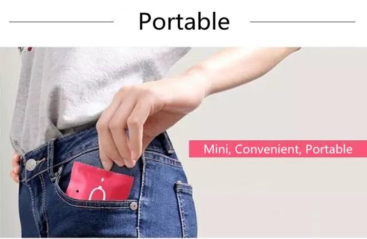 Qualidade superior de Papel descartável de Emergência carregador de telefone celular Power Bank 1000 mAh