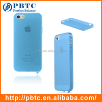 Set Screen Protector And Case For Iphone 5 , Sky Blue Silicon Case For Iphone Wholesale