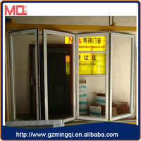 White color aluminium folding door bi-fold door