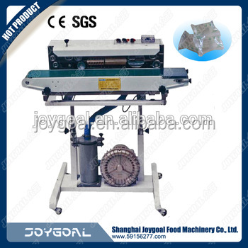 hongzhan cbs/dbf series floor-ink coding continuous bag sealing machine