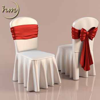 Wholesale Cheap White Polyester Chair Cover
