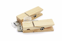 Wooden clip usb flash drive natural wood pendrives 4gb 8gb 32gb memory stick