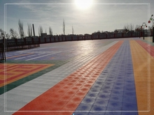 Outdoor 100% new PP material interlocking basketball sport flooring tile