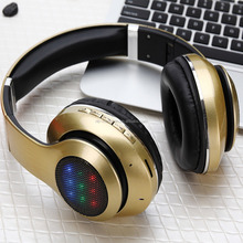 TF card/FM sport portable V4.0 CSR LED Light bluetooth headset headphone