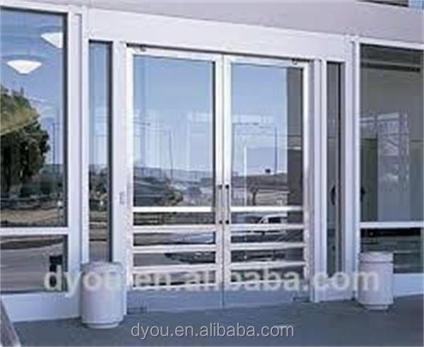 tempered used commercial glass entry doors from China