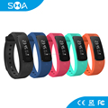2017 Smart fitness tracker watch,bluetooth fitness tracker smart bracelet for blood pressure testing