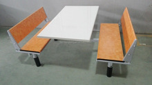 Special design modern school canteen wooden tables and chairs for restaurant