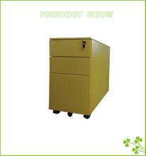Office furniture wood filing cabinet fixed pedestal 3 drawer filing cabinet