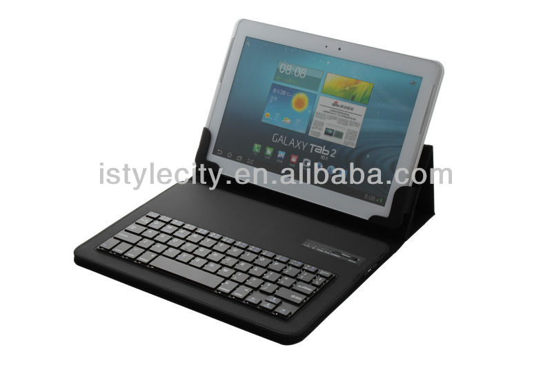 Black For ipad / sumsungPu leather bluetooth keyboard