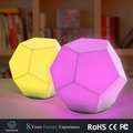 2017 Latest creative product soft baby light multicolor changing water cube shape LED night light