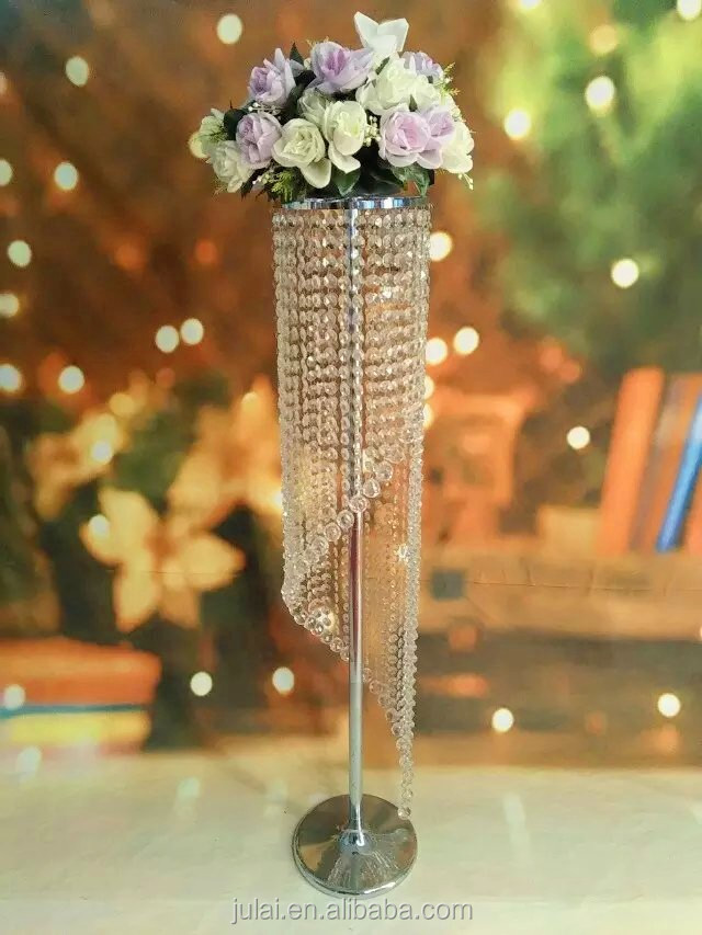 Crystal Chandelier Flower Stands For Weddings Buy