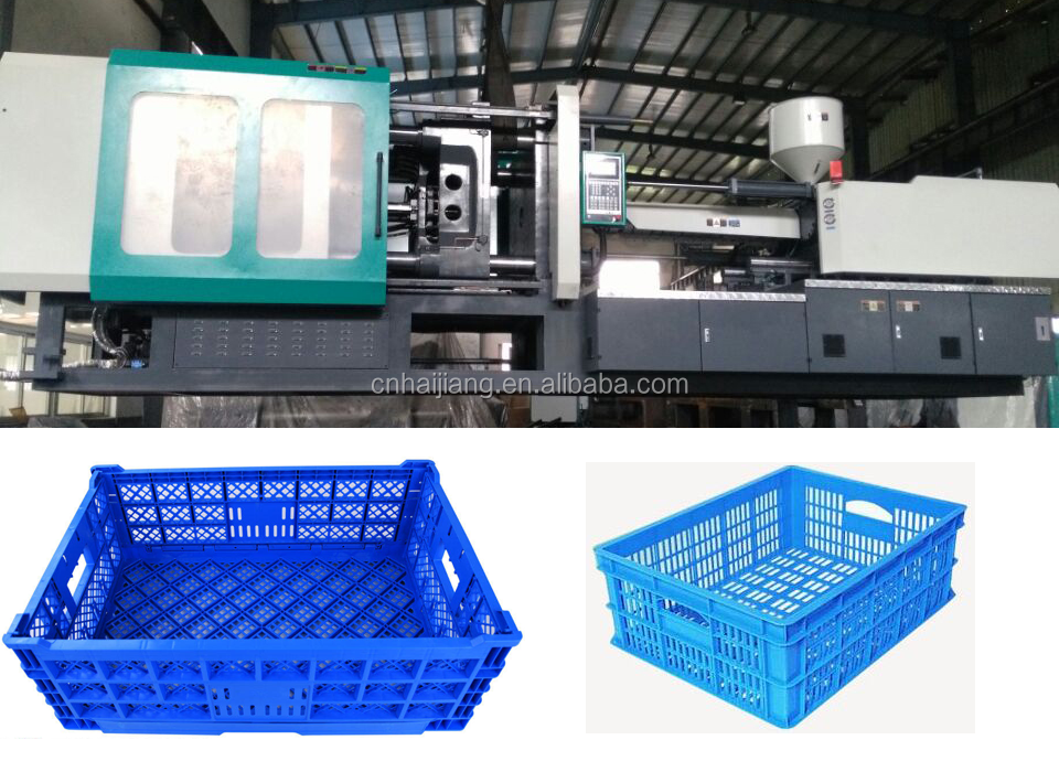 Professional plastic fruit vegetable crate injection molding machine