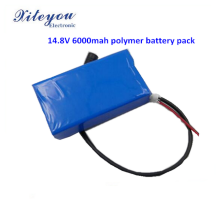 14.8V 4s polymer 6000mah rechargeable lipo battery pack China Supplier