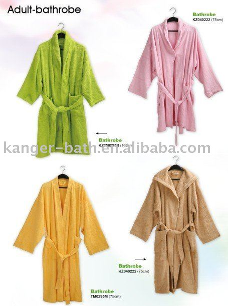 adult towelling beach robe/bath robe