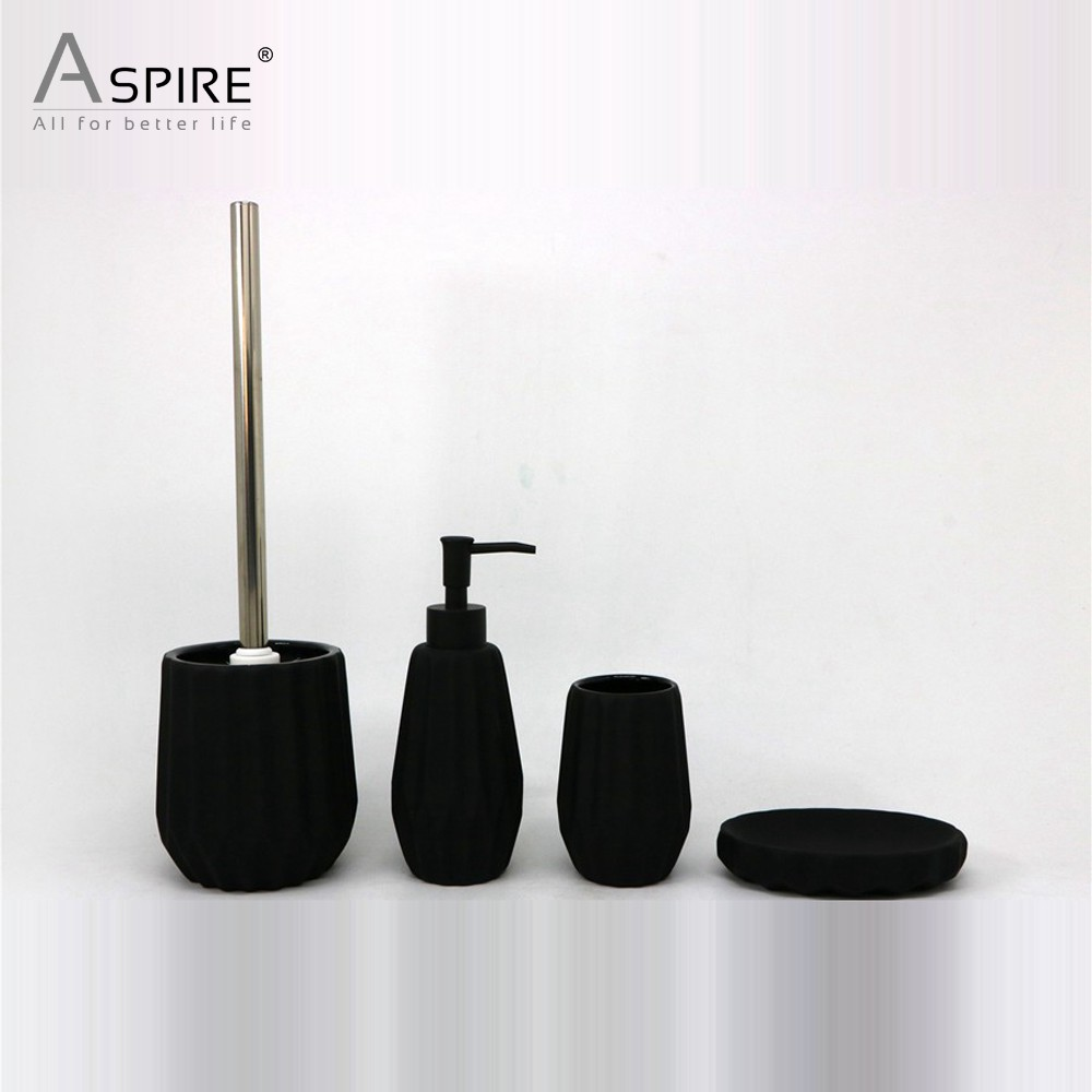 Ceramic Rubber Coated Bath Set