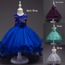 Fashion Baby Girl Kids Dresses For Wedding Evening Party ,Princess Dress Girl Prom Fancy Dress Ceremonies Gown MLD101