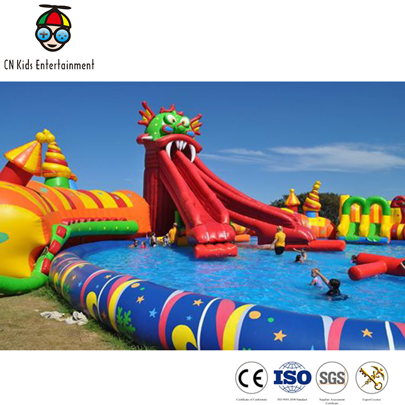 Commercial Lake large heavy duty inflatable water slides wholesale