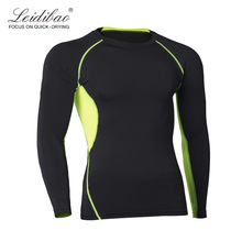 Sports Fitness leisure workout wear men's long sleeve compression wear