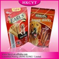 Standing up ziplock pet snack food package pouch
