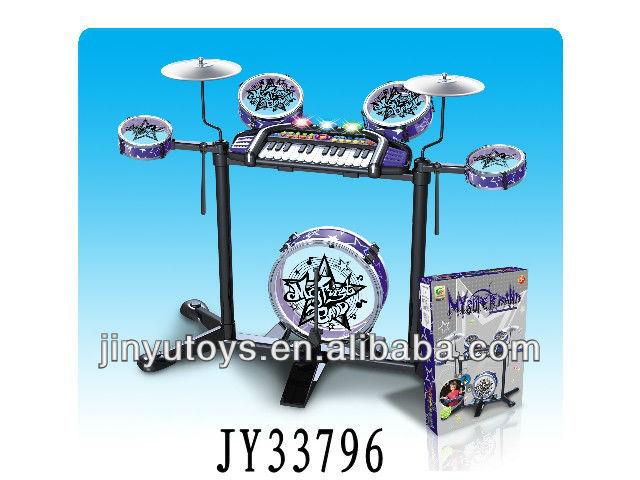 Multifuctional musical electric organ and jazz drum toy