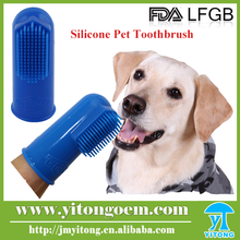 FDA food grade eco-friendly finger shaped silicone pet toothbrush