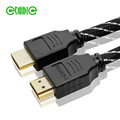 1 meters Nylon Braid HDMI Cable Black PVC for Xbox PS3 Projector