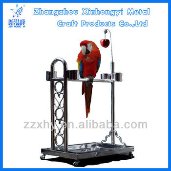 Huge Stainless Steel Parrot Play Stands