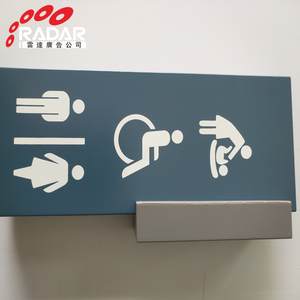 Wholesale Custom Metal Bathroom Restroom WC Toilet Sign Door Wall Room Sign