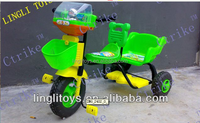 Twins plastic trike !Pinghu Lingli toys for twins baby plastic toy trike with two seats! Hot sale!