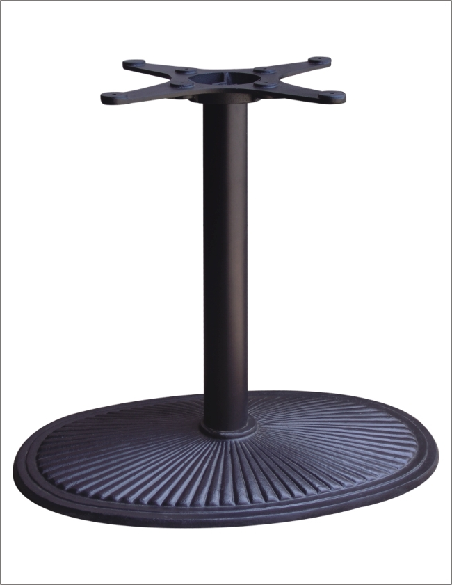 Oval-shaped 74cm diameter base outdoor wrought iron furniture metal table leg HS-A023