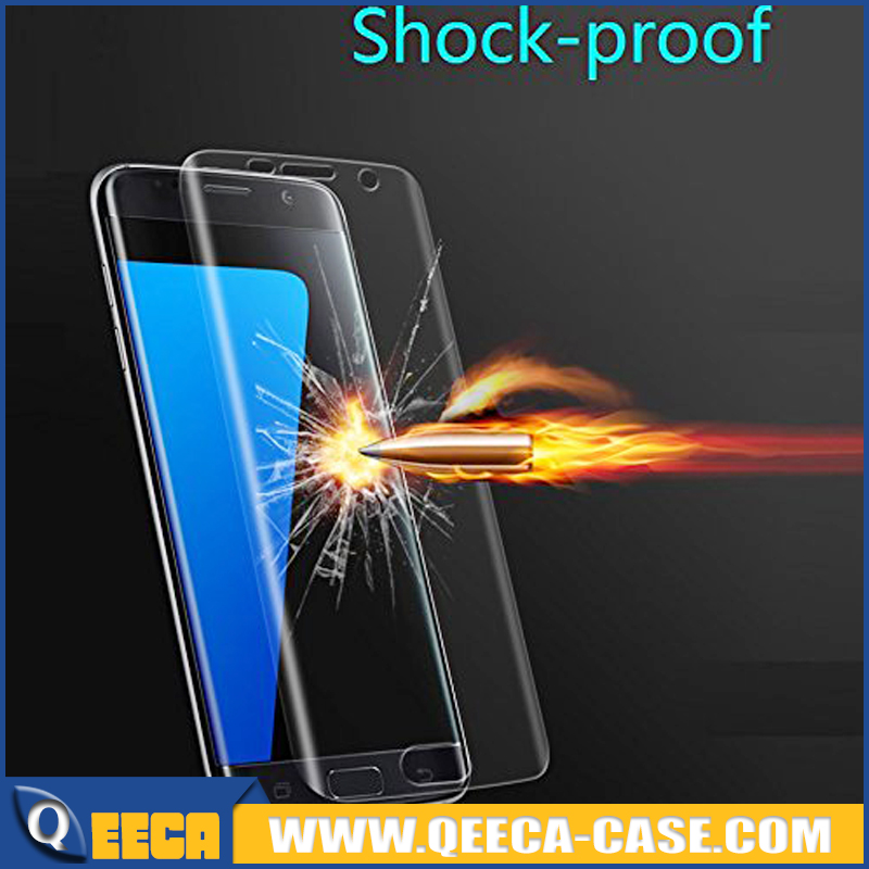 Qeeca - Note 7 Full Coverage Bubble Free Anti-Scratch 3D Tempered Glass Screen Protector for Samsung Galaxy Note 7