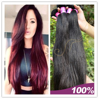 100% real girl pussy hair unprocessed malaysian human hair 2015 hot selling