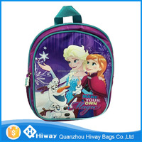Customized frozen school bag, anna elsa frozen kids backpack, school kid bag frozen