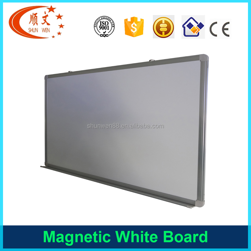 Good quality magnetic whiteboard with pen tray for school and office