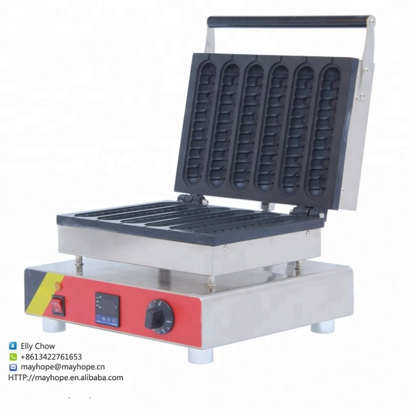 Electric Automatic Commercial Hot Dog Waffle Maker Machine - 6 <strong>Corn</strong>