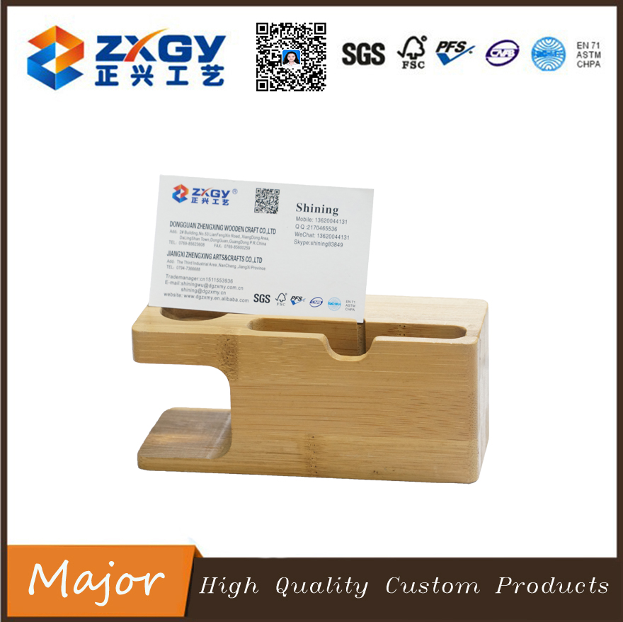 2017 popularity style rectangle bamboo wooden base for cards