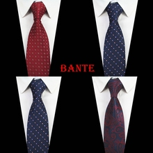Polyester Ties For Men High Quality Woven Necktie