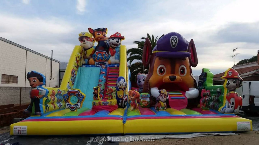 2017 New Design Giant Inflatable Slide With Bounce House Toys For Kids and adult