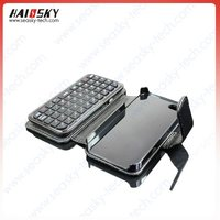 49 Key Bluetooth keyboard and leather case with stand For Iphone 4s