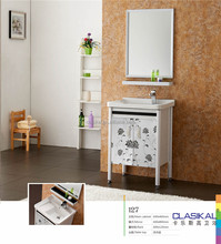127 CLASIKAL factory wholesale direct wash machine spanish style bathroom vanity cabinet