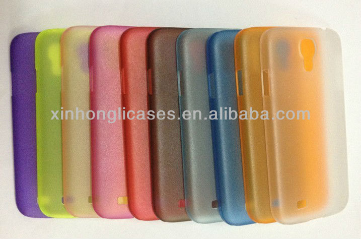 Transparent Glossy PC Skin Case Cellphone Cover For samsung galaxy s4