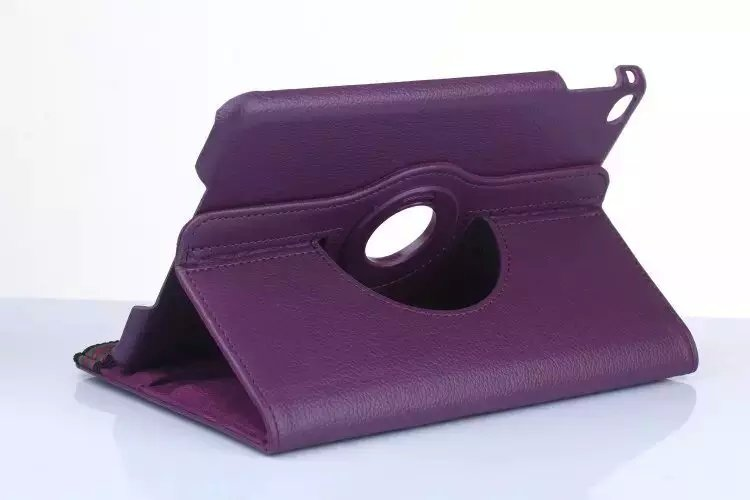 Purple Rotatable Design Tablet Case For IPad Mini4